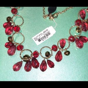 Festive red sparkly necklace